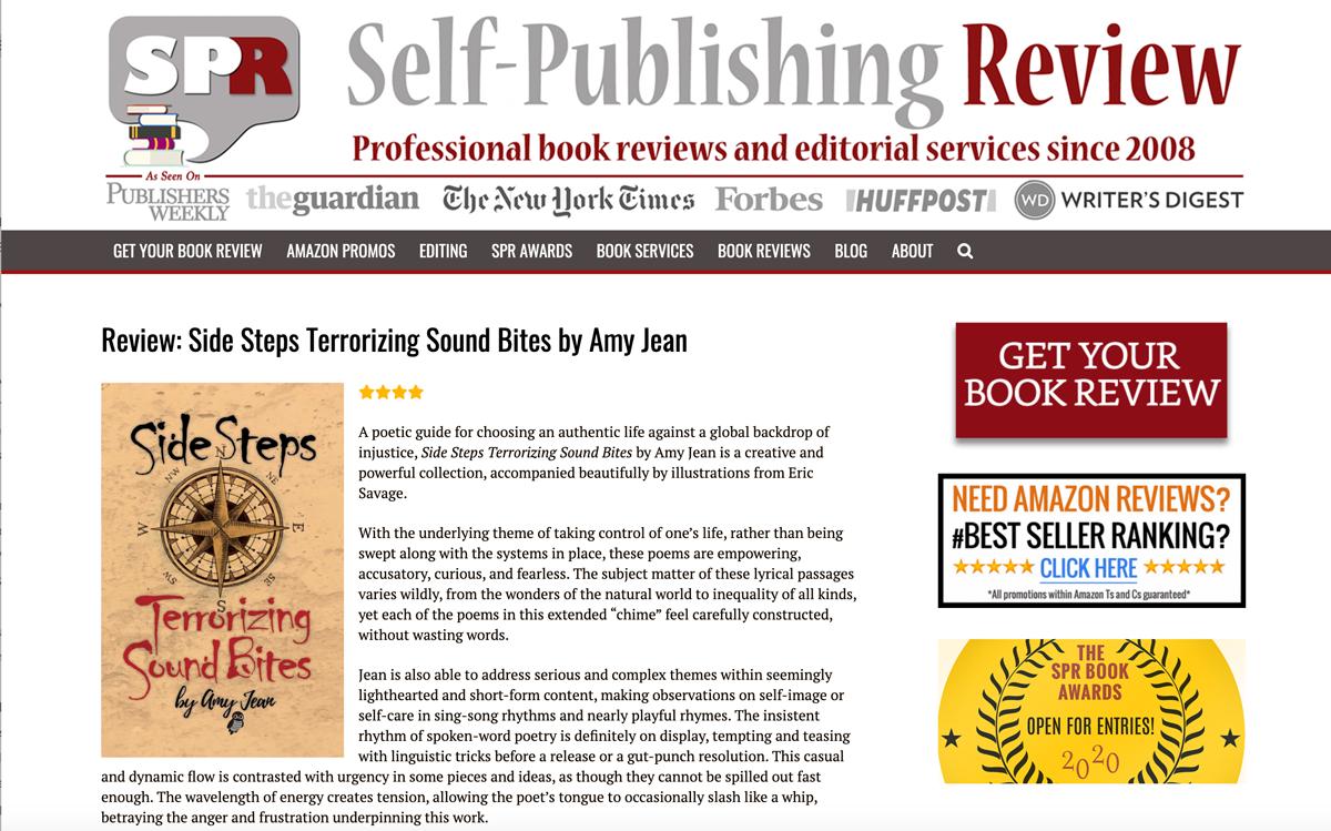 Amy Jean Blog - Self-Publishing Reviews