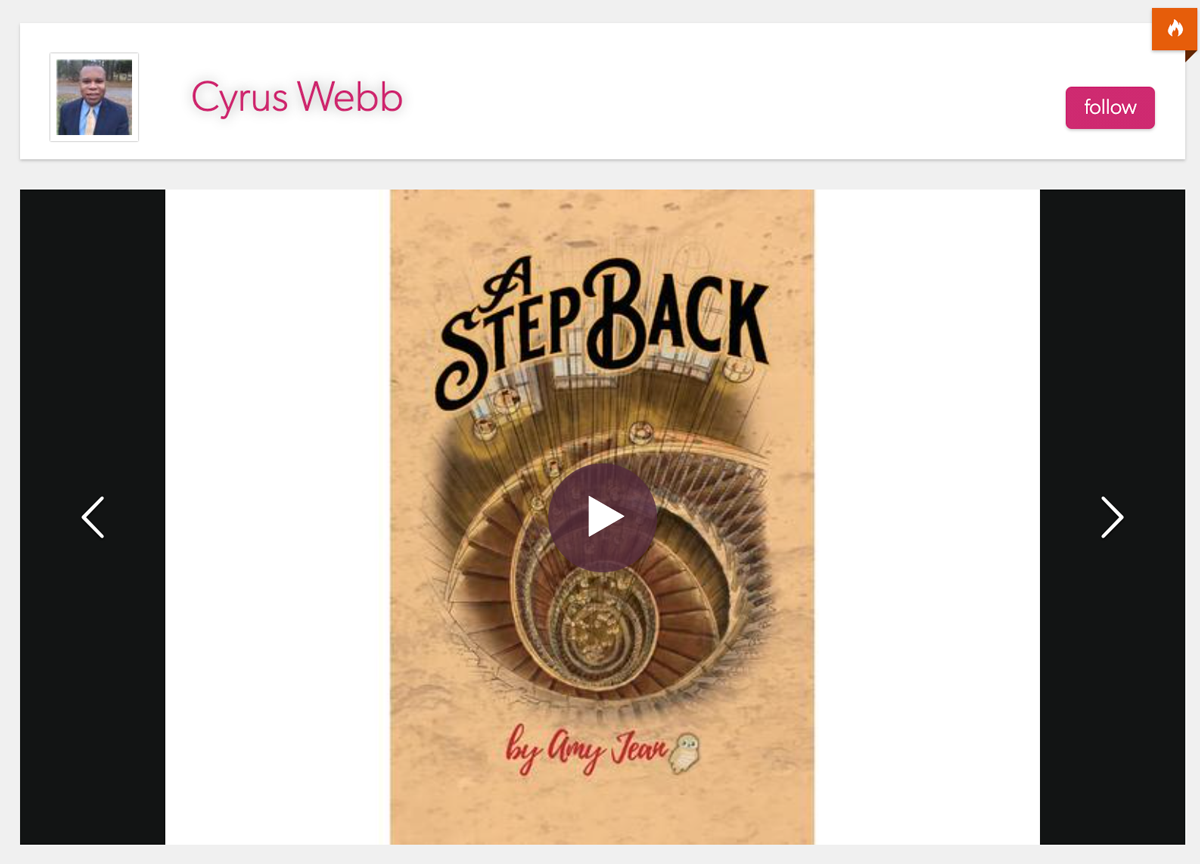 Amy Jean Blog - Cyrus Webb-A Step Back Book Interview